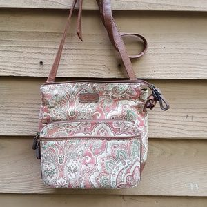 RELIC floral print canvas purse